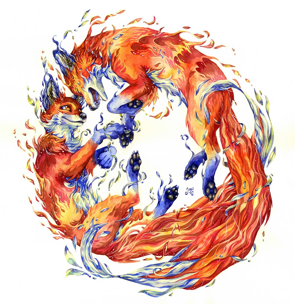 Print - Firefoxes