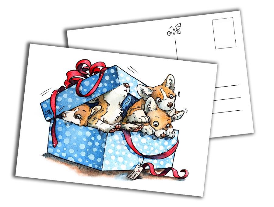 Card - Corgious Present