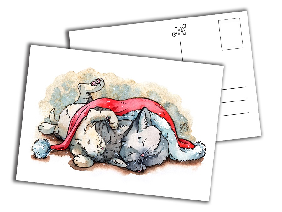 Card - Christmas Kittens