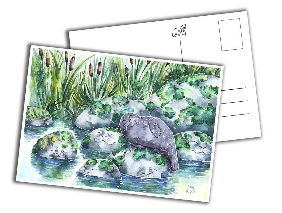 Card - Happy Seal with Friends