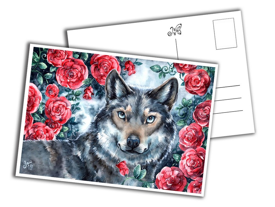 Card - Rosy Wolf