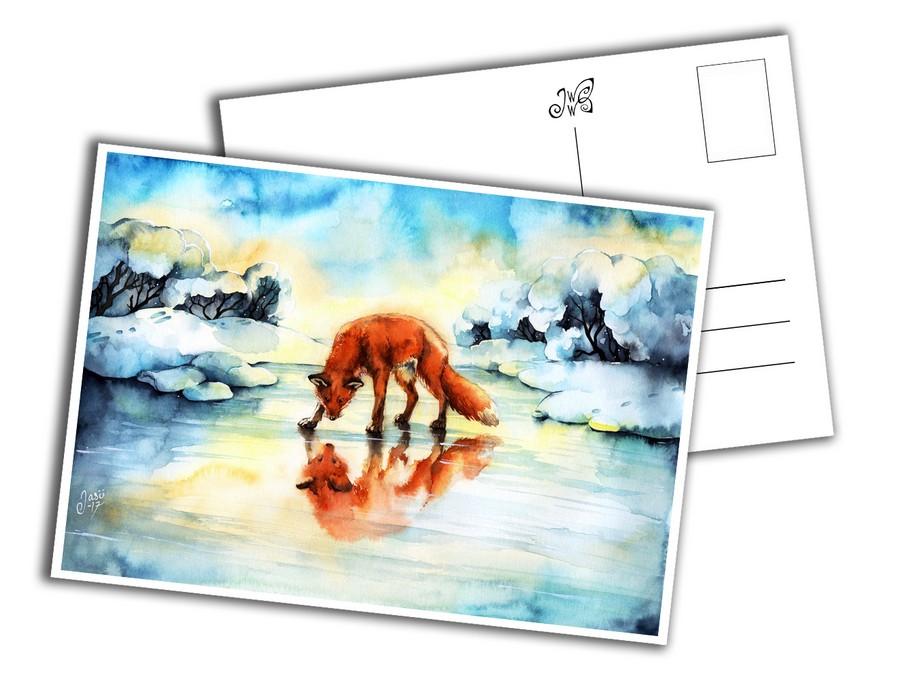 Card - Fox on Ice