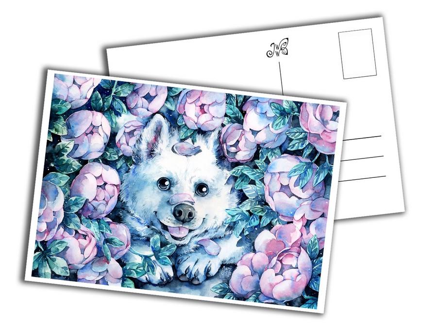 Card - Samoyed