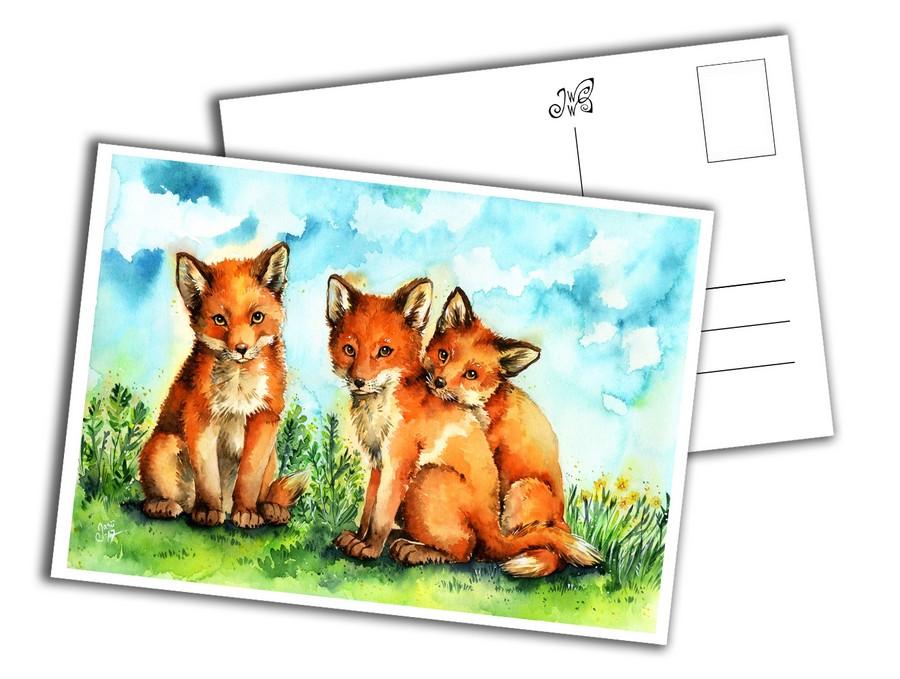 Card - Fox Pups