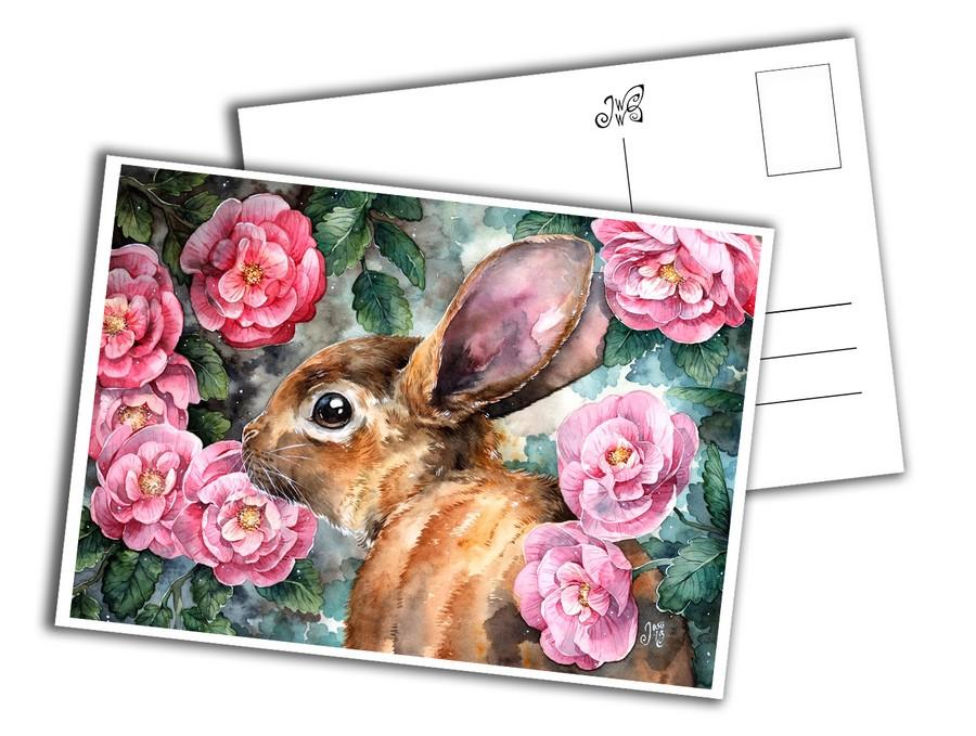 Card - Rosy Bunny