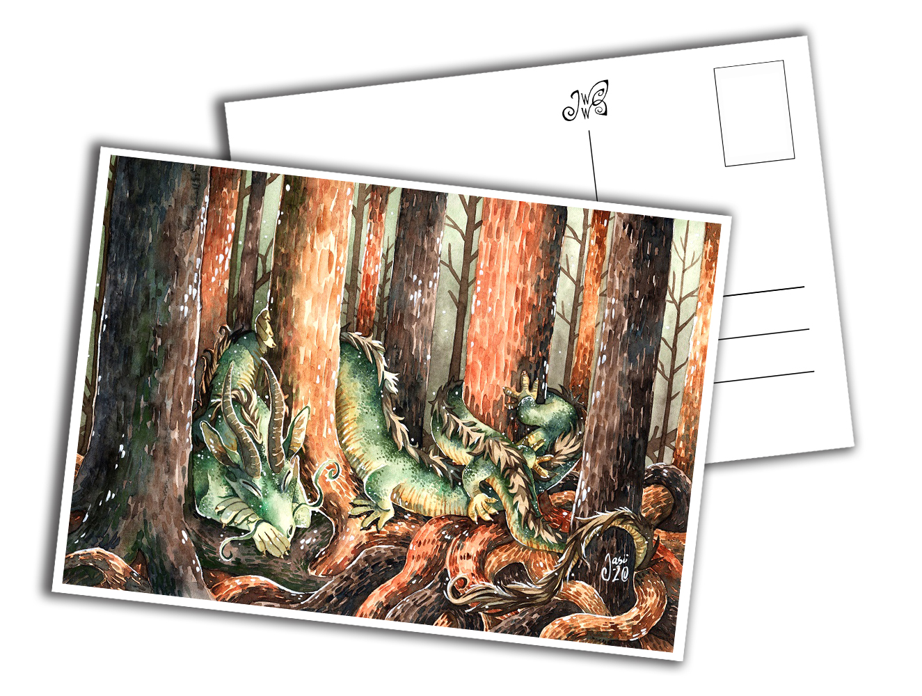 Card - Dragon in the Forest