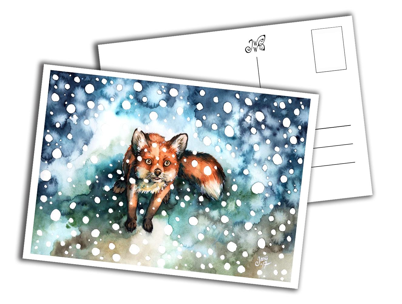 Card - Fox in Snowfall