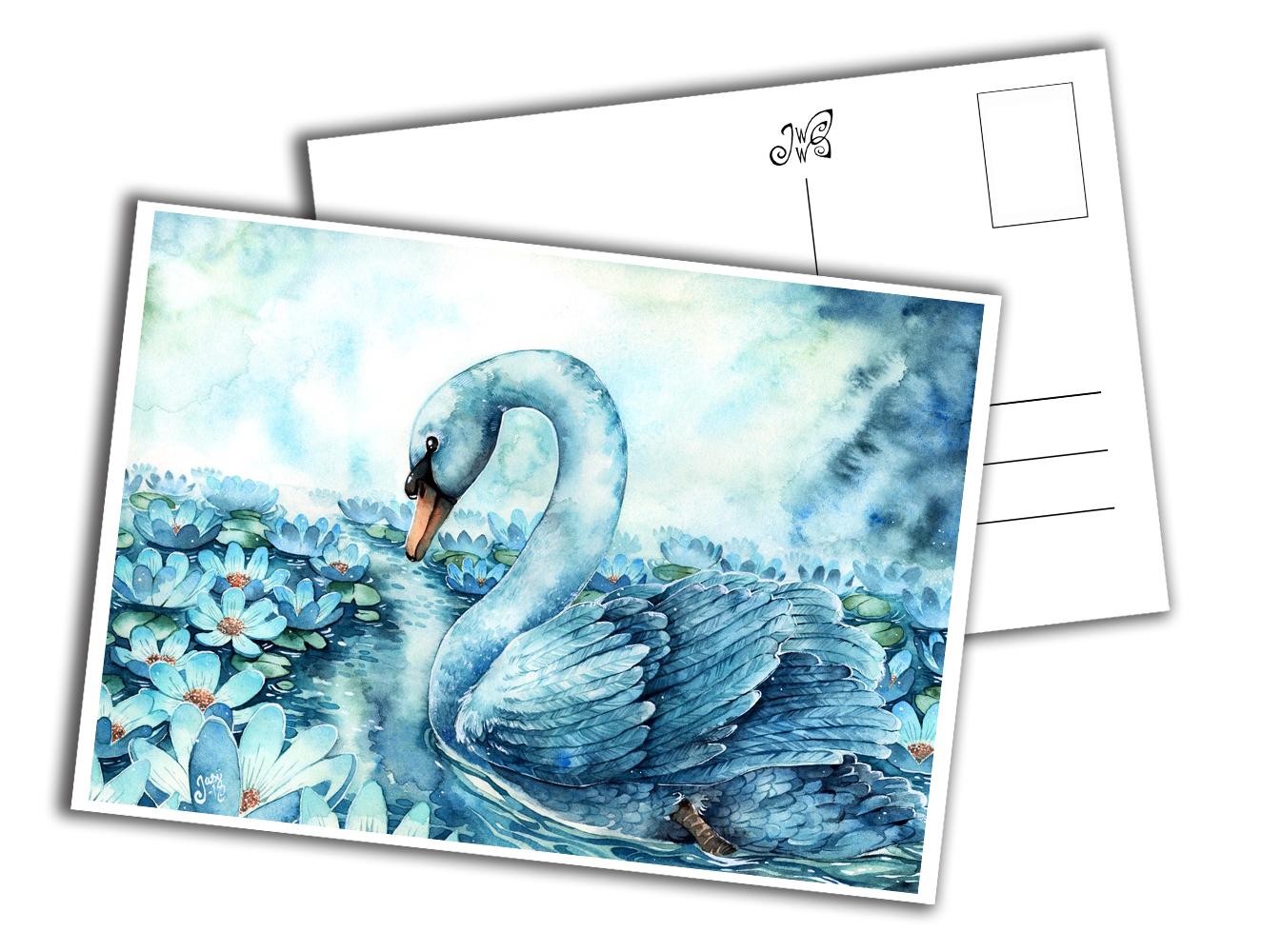 Card - Swan Lake