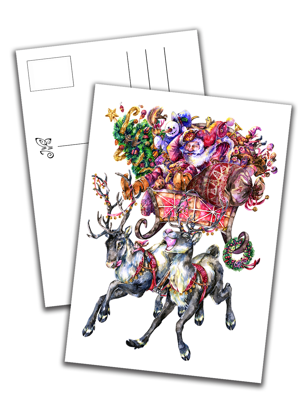 Card - Santa Claus & Co. with White Background