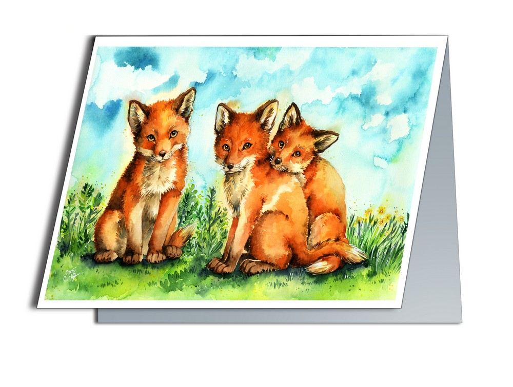 Fox Cubs (A6-size, Folded)