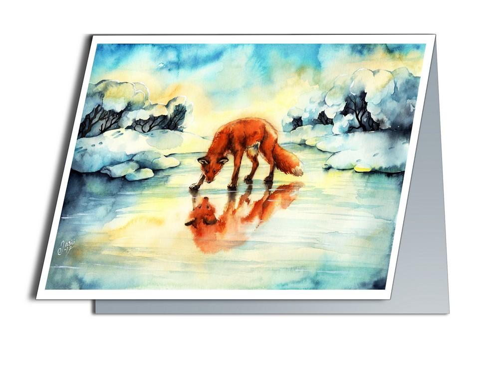 Fox on Ice (A6-size, Folded)