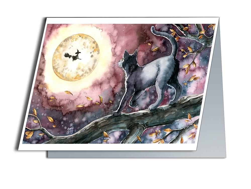 Card - Full Moon Night