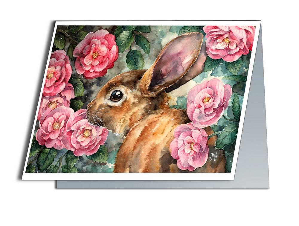 Rosy Bunny (A6-size, Folded)