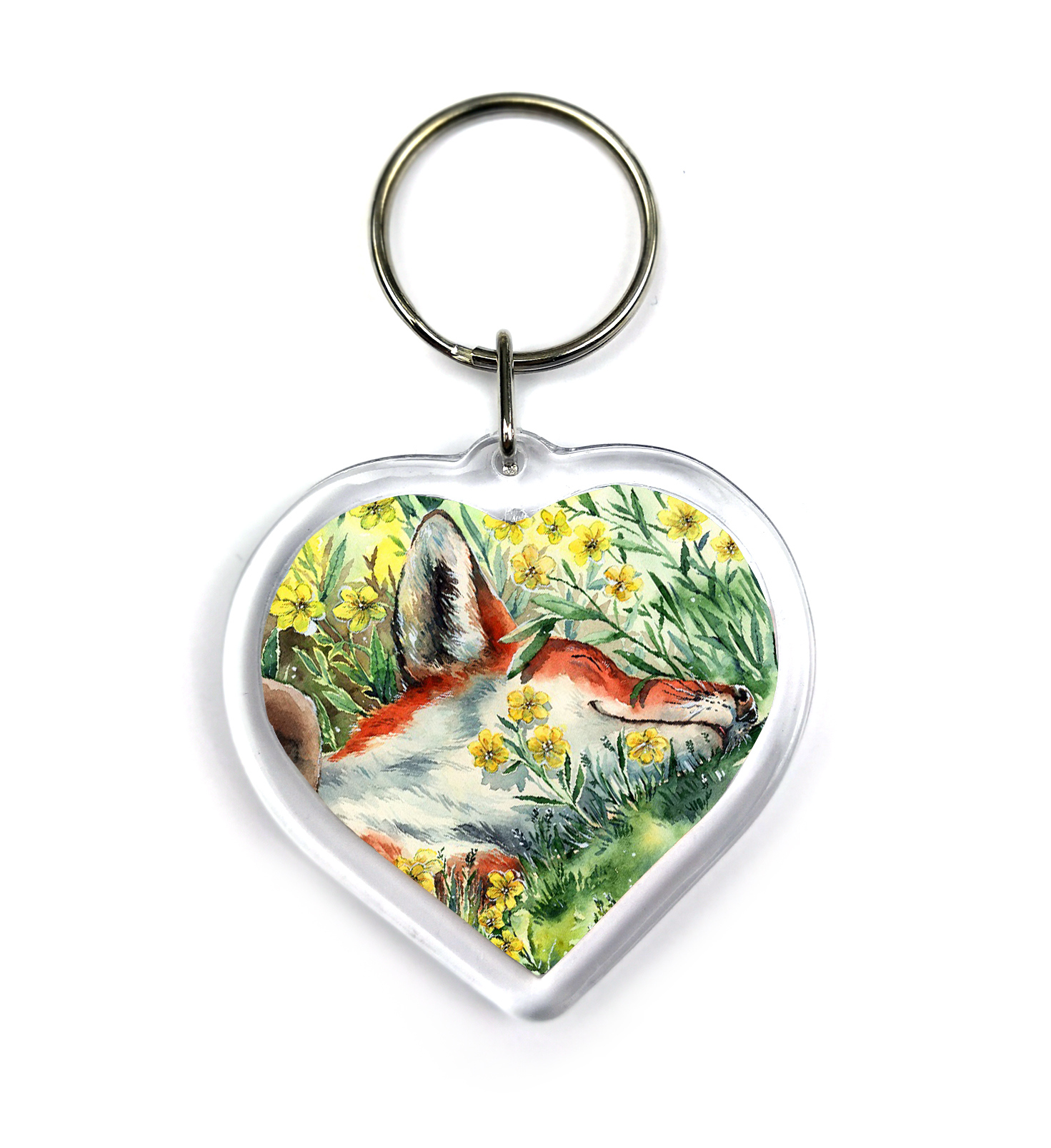 Summer Fox Keychain