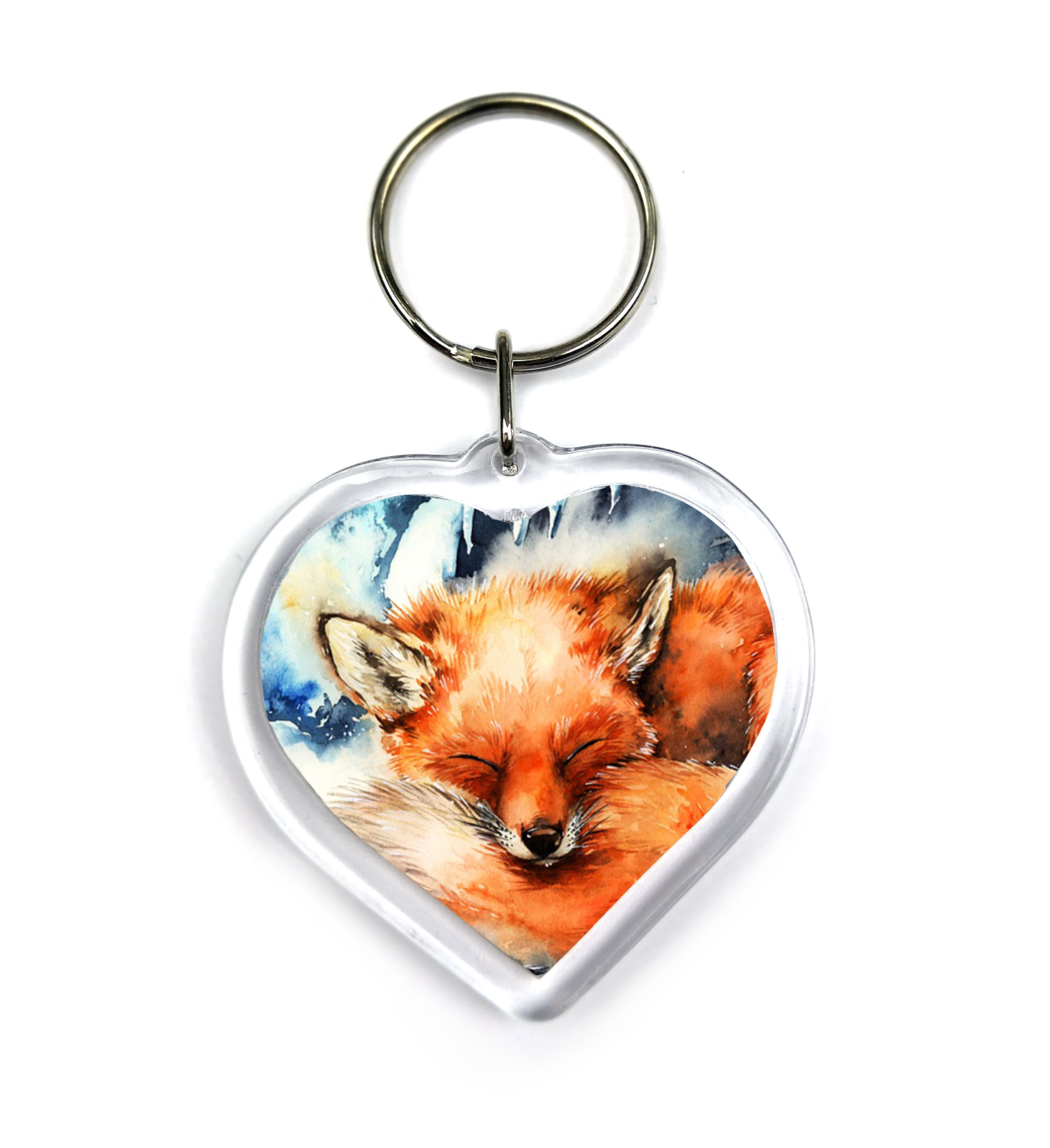 Fox in the Winter - Keychain