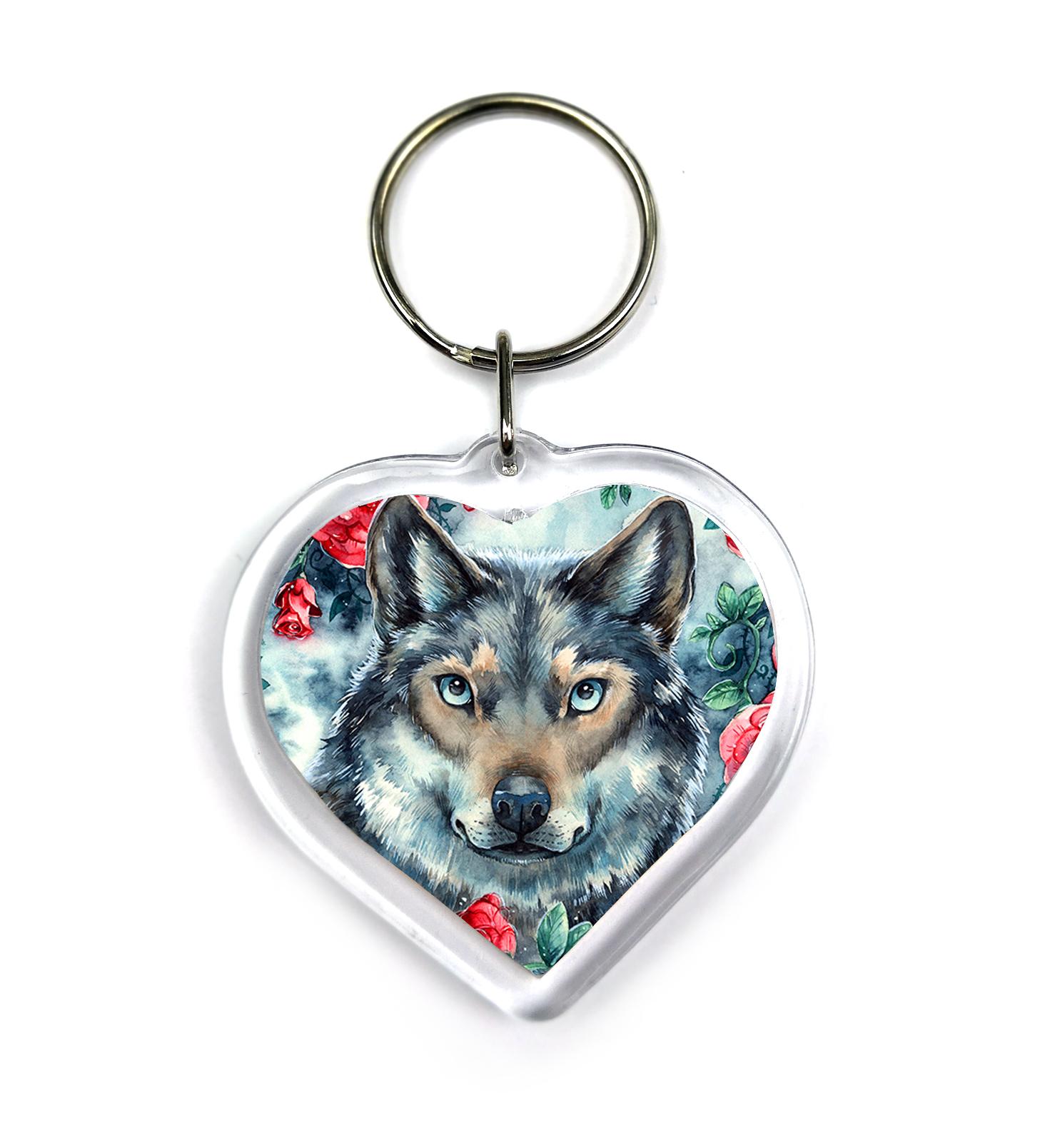 Rosy Wolf - Keychain